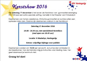 2016 - Kerstshow uitnodiging